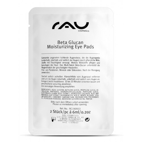RAU Cosmetics Beta Glucan Moisturizing Eye Pads (8Paar)